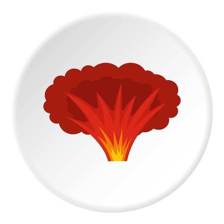 Atomaire explosie pictogram cirkel