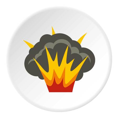 Projectile explosion icon circle