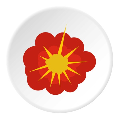 Cloudy explosion icon circle Illustration