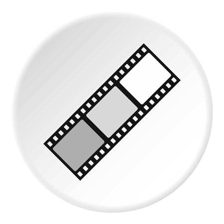 Film icon circle Illustration