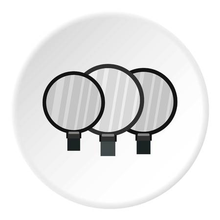 circumference: Magnifying glass icon circle
