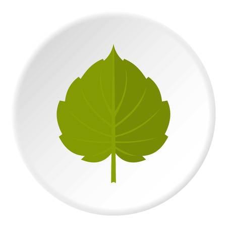 Círculo de icono de hoja de aliso verde