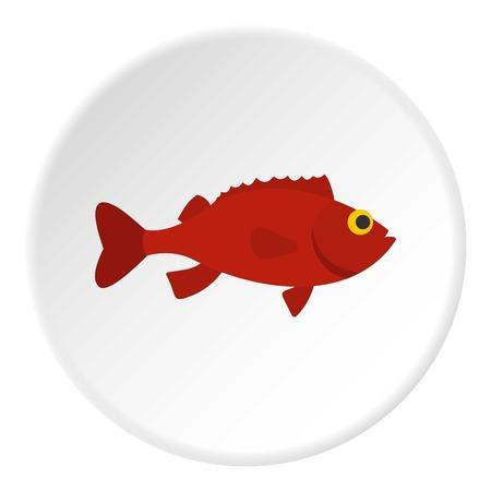 Red betta fish icon circle