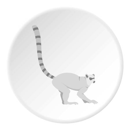 Lemur icon circle Çizim