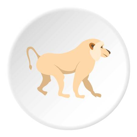 Japanese macaque icon circle