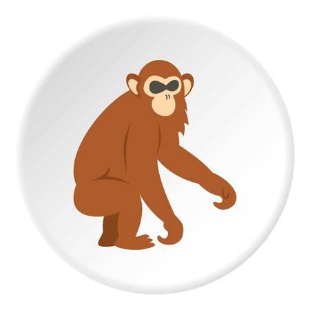 dusky: Dusky leaf monkey icon circle Illustration