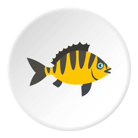 coldblooded: Perch fish icon circle Illustration