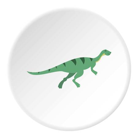 Gallimimus dinosaur icon in flat circle isolated on white background vector illustration for web Illustration