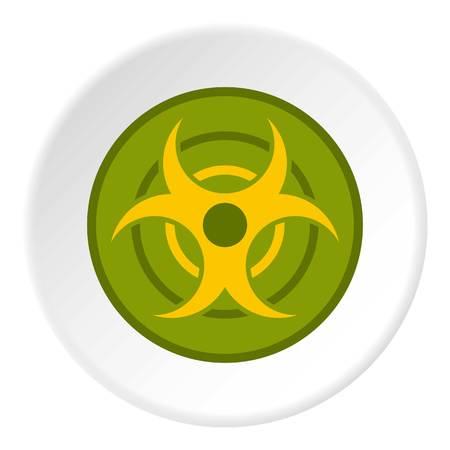 riesgo biologico: Biohazard símbolo icono círculo Vectores