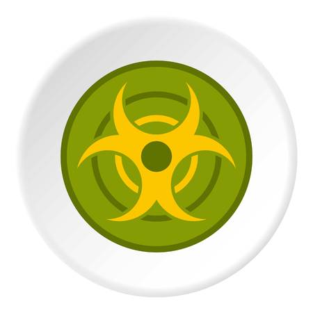Biohazard symbol icon circle Illustration