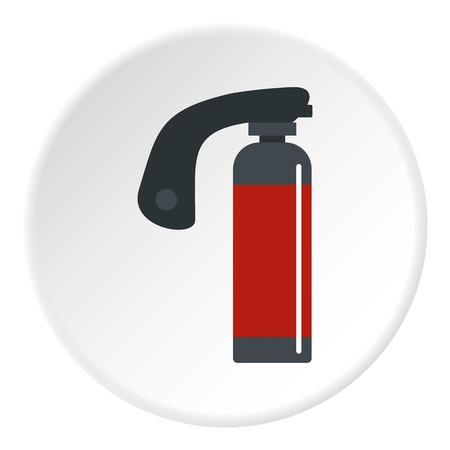 compressed air: Gas cylinder icon circle Illustration