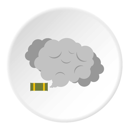Tear gas canister icon circle
