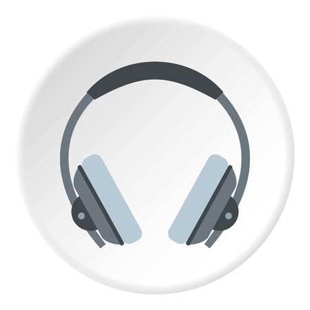 Headphone icon circle Illustration