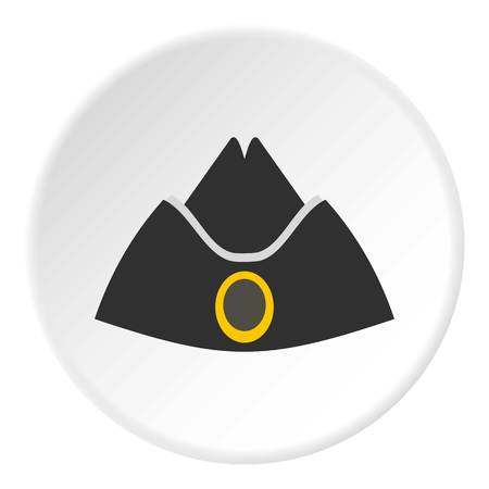 Forage cap icon in flat circle isolated on white background vector illustration for web