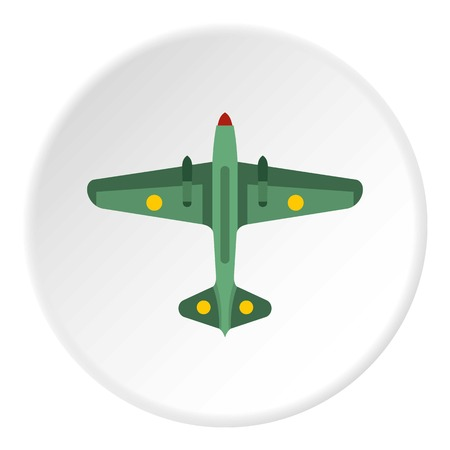 Army fighter icon in flat circle isolated on white background vector illustration for web