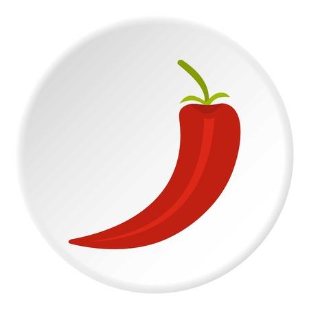 capsaicin: Red hot chili pepper icon circle