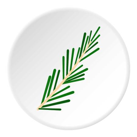 Green rosemary twig icon circle