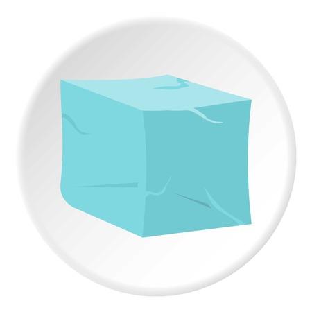 氷アイコン円  イラスト・ベクター素材