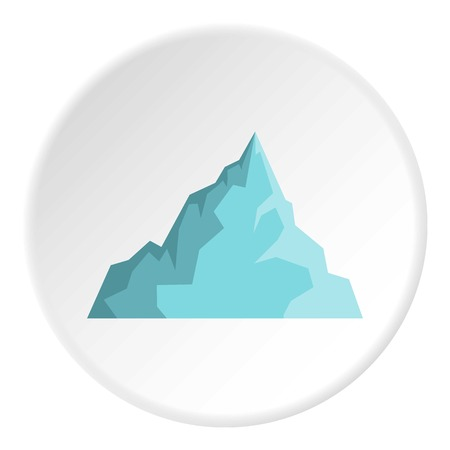 Iceberg icon in flat circle isolated on white background vector illustration for web Illustration