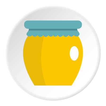 apiculture: Honey liquid bank icon circle