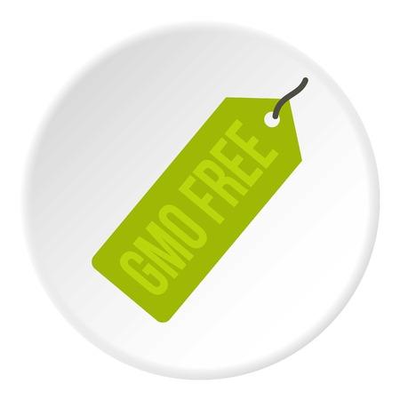 GMO free green price tag icon circle Illustration