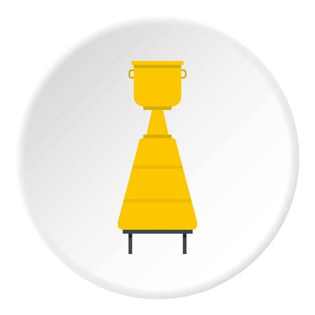 distillation: Equipment for the production of wine icon in flat circle isolated vector illustration for web Illustration