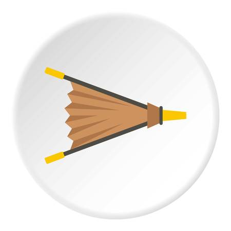 Fire bellows icon in flat circle isolated vector illustration for web