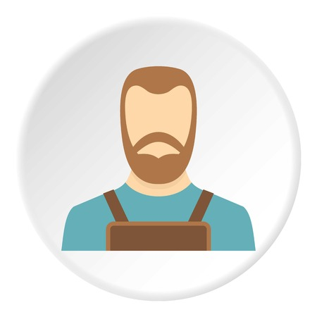 Blacksmith icon in flat circle isolated vector illustration for web