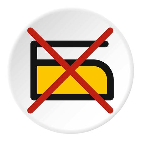 laundry care symbol: Do not iron icon in flat circle isolated vector illustration for web