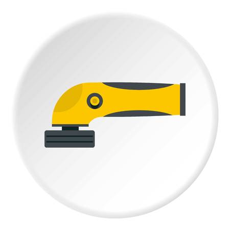 Grinder machine icon in flat circle isolated vector illustration for web