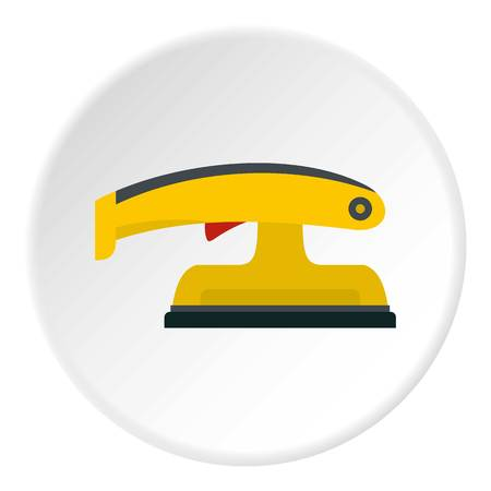 Fret saw icon in flat circle isolated vector illustration for web