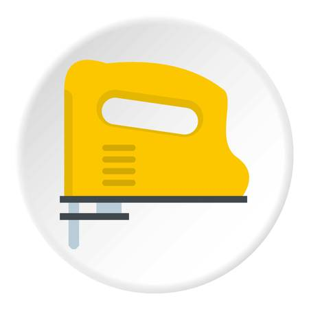 Yellow pneumatic gun icon in flat circle isolated vector illustration for web Illustration