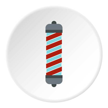 Hair curler icon in flat circle isolated vector illustration for web