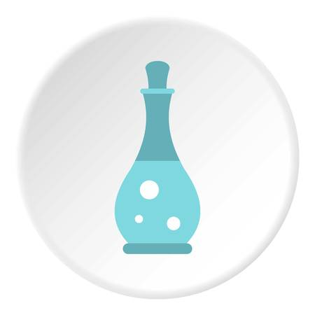Massage oil icon in flat circle isolated vector illustration for web