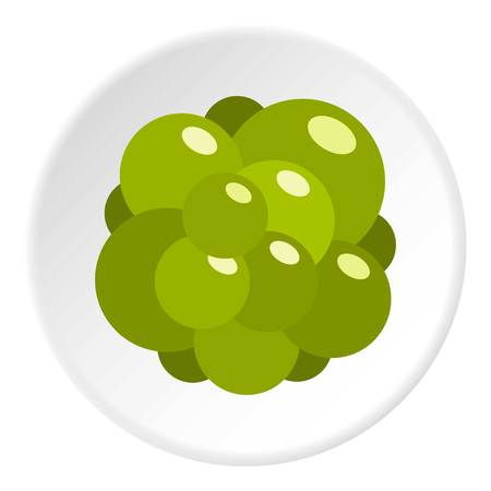 Ovary icon in flat circle isolated vector illustration for web
