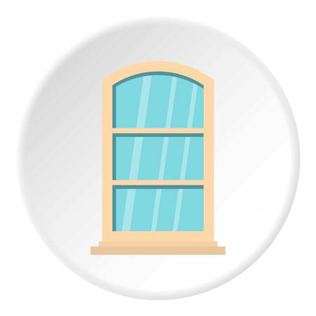 White narrow window icon in flat circle isolated vector illustration for web Illustration
