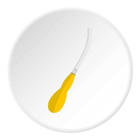 Dental suction tool icon circle