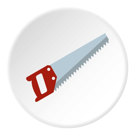 logging: Wood saw icon in flat circle isolated vector illustration for web Illustration