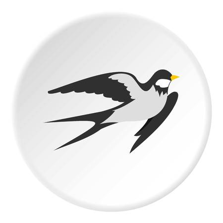 Swallow icon in flat circle isolated vector illustration for web Illustration