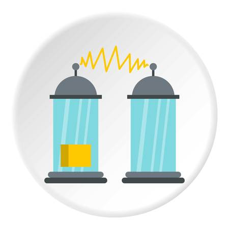 Electrical impulses icon in flat circle isolated vector illustration for web Illustration