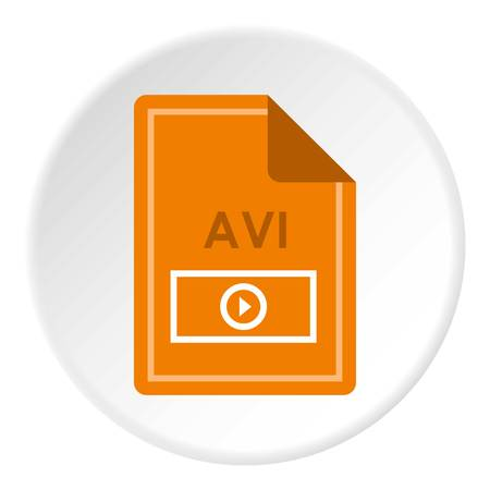 avi: File AVI icon circle