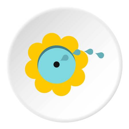 Watering flower icon circle Illustration