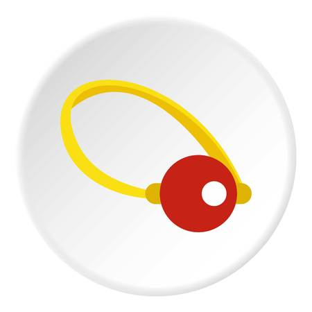 Clown nose icon in flat circle isolated vector illustration for web Illustration