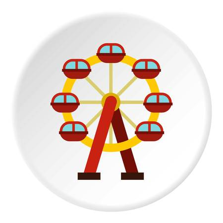 exciting: Ferris wheel icon circle