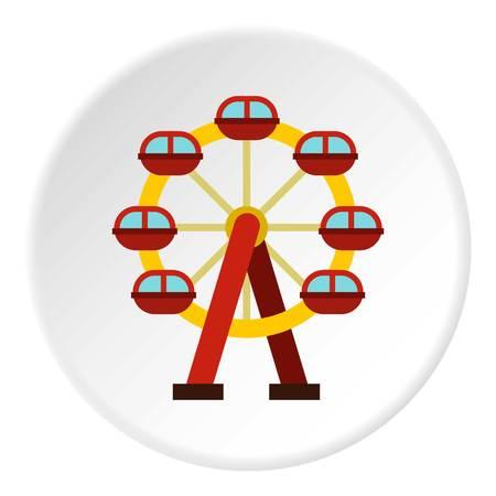 Ferris wheel icon circle