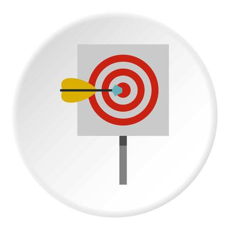 effectiveness: Red target and dart icon circle