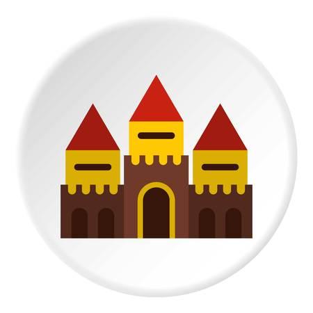 Fairy tale castle icon circle