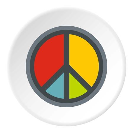 Peace symbol icon circle Illustration