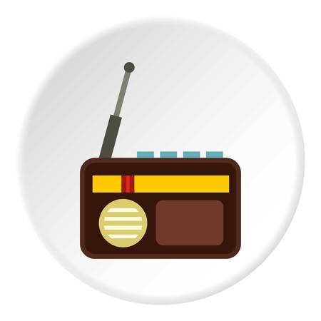 fm: Retro radio icon circle Illustration