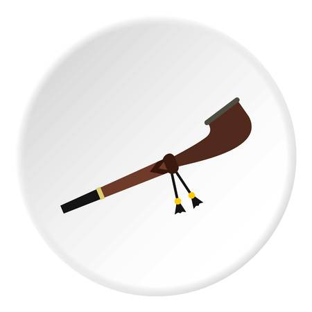 peace pipe: Indian peace pipe icon circle